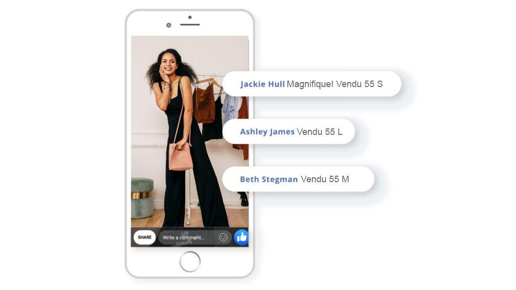vente live facebook automatique